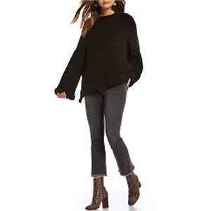 Free People High Rise Straight Frayed Crop Jean